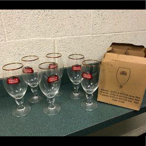 Set of Six 50cl Stella Artois Glassware